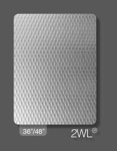 Rigidized Stainless Steel Sample Pattern : 2WL Finish : Brushed #4