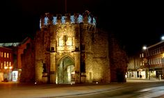 The Bargate at night, Southampton, England