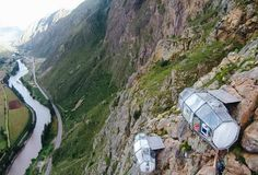 These Hotel Suites Are Glass Pods Strapped To Mountain Cliffs