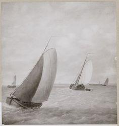 Een foto van een schilderij met enkele boten