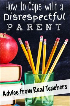 How to Cope With a Disrespectful Parent - Advice from Real Teachers post on Corkboard Connections