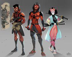 Deadpool And Spiderman, Spiderman Spider, Amazing Spiderman, Marvel Art, Marvel Heroes, Marvel Characters, Fantasy Character Design, Character Design Inspiration, Character Concept