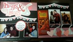 Hugs & Kisses scrapbook layout   Out on a limb scrapbooking