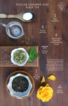 persian cardamom-rose black tea recipe