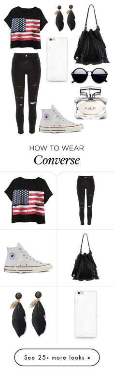 """Untitled #512"" by jordanvarney on Polyvore featuring River Island, Chicnova Fashion, Converse, Loeffler Randall and Gucci"
