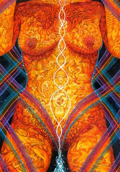 Many females suffer from depression or lack of motivation when their Root Chakra is blocked. A gentle Yoni healing massage uses a circular massage technique, as the fingers working gradually all around the outer and inner Yoni. When a numb or sore area i Alex Grey, Sacred Feminine, Divine Feminine, Tantra, Light Of Life, Visionary Art, Psychedelic Art, Sacred Geometry, Female