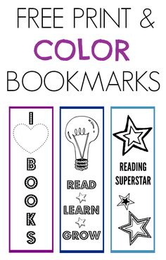 Your child will love to color, cut-out and use these printable bookmarks.
