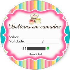Etiquetas para bolo no pote - Muito Chique