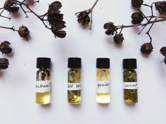 The Best Handmade Beauty Products from the Pop Shop America Blog! Shown here: handmade perfume set by Sam Wish Botanicals.