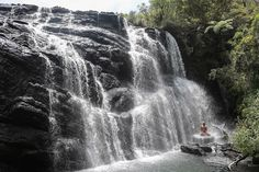 Swim under a waterfall