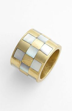 Kelly Wearstler Checkerboard Inlay Ring available at #Nordstrom
