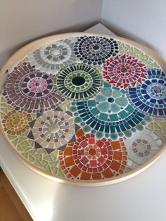 Mosaic design bowl,handcrafted mosaic tray, mosaic art home decoration, glass… Mosaic Tray, Mosaic Tile Art, Mosaic Artwork, Mosaic Crafts, Mosaic Projects, Mosaic Mirrors, Mosaic Designs, Mosaic Patterns, Mosaic Madness