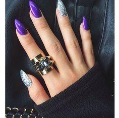 Creative Stiletto Nail Designs #nailart - bellashoot.com