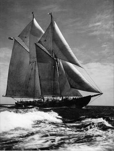 The Bluenose, built at Smith & Rhuland Shipyards, Lunenburg, Nova Scotia.  Launched in 1921.