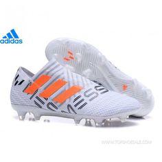 new styles af5d0 c5395 adidas Nemeziz 17+ 360 Agility FG BY2402 KID W M White Solar Orange Clear  Grey SALE FOOTBALLSHOES