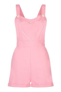 This would be so perfect in black TT.TT  The Loveheart Romper - Bubblegum Pink