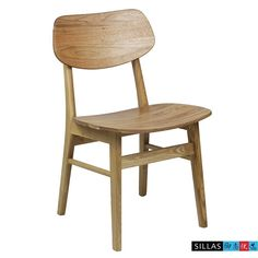 Wood color simple and stylish modern dining chair wood chair Ash Restaurant Cafe Restaurant