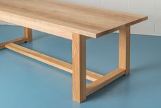 Handmade Table, Dining Tables, Foot Rest, Clean Lines, Simple Designs, Bespoke, Loom, Ash, British