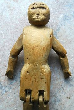 Primitive folk art carved animals