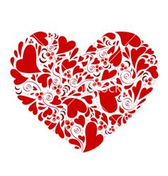 Hearts+within+heart+vector+59791+-+by+jackrust on VectorStock®
