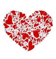 Hearts within heart vector on VectorStock®
