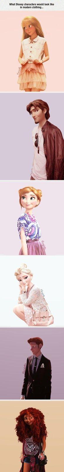 Claudette Violetta: Princesas, Villano y Principe Disney adolecentes
