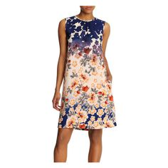 Floral Shift Dress in Navy from Joe Fresh
