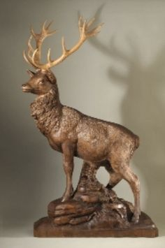 swiss carved stag