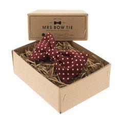 Burgundy Dot - Mrs Bow Tie