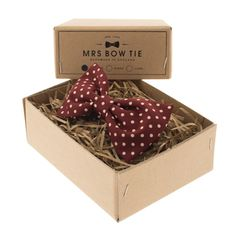 Burgundy Dot - Mrs Bow Tie