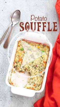 How to make an easy potato souffle for your thanksgiving table. #potatosouffle #sides #potatorecipe #potatoes