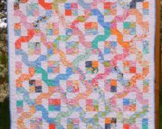 Little Louise Designs Quilt Pattern - Winding Nine Patch Pinwheel Quilt Pattern, Layer Cake Quilt Patterns, Layer Cake Quilts, Jelly Roll Quilt Patterns, Baby Quilt Patterns, Layer Cakes, Quilting Patterns, Patchwork Quilting, Quilt Baby