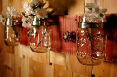 Crystal Clear and Classic Mason Jar trio by PineknobsAndCrickets, $45.00