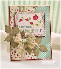 Designed by Debbie Olson- love the foliage spray. Seriously, the woman is incapable of making an ugly card.