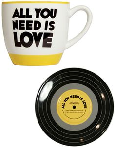All you need is love. And coffee - Lennon & McCartney Lyric Mug and Saucer Sets