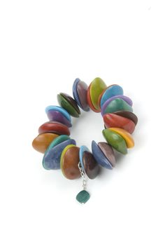 Dacnis Bracelet - from nuts but could be polymer  From Leju