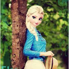 Frozen~fashion Elsa love it! Cute Disney, Disney Girls, Disney Style, Jack Frost, Princesa Ariel Disney, Disney Adoption, Princesse Disney Swag, Modern Day Disney, Modern Disney Characters