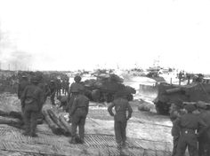 A very busy beach scene on Juno, Nan Green sector on D-Day.
