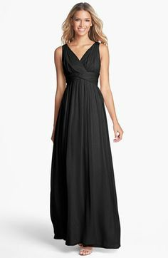 Mothers dress? Have to spice it up of course. Donna Morgan 'Julie' Twist-Waist Silk Chiffon Gown available at #Nordstrom