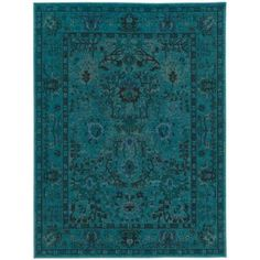Home Decorators Collection Overdye Teal 9 ft. 6 in. x 12 ft. 2 in. Area Rug-C3251A290370HD - The Home Depot