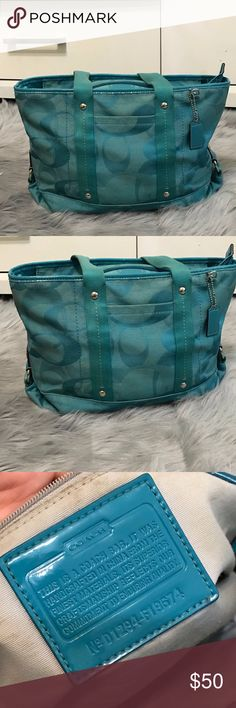 Blue Large Coach Satchel Purse Blue Large Coach Satchel Purse Coach Bags Satchels