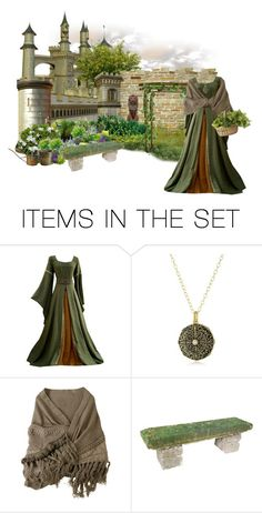 """Medieval Garden"" by mochineko ❤ liked on Polyvore featuring art"