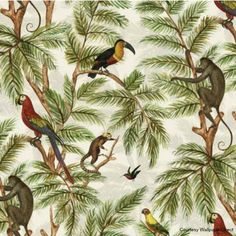 Botanical interiors trend 2015 jungle wallpaper from Graduate Collection via Wallpaper Direct