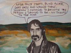 Frank Zappa. Epigram by Michael Lipsey, elliptical epigrammatist.