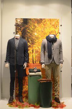 Window display at 4men fashion store, Oslo Autumn 2013 by Noova