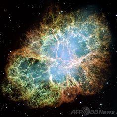 米航空宇宙局(NASA)が公開した「かに星雲(Crab Nebula)」の画像(2010年3月3日提供)。(c)AFP/NASA/ESA/J. HESTER/A.LOLL(ASU) ▼25Jan2014AFP|【特集】「猫の手星雲」に「魔女星雲」…神秘の天体ショー http://www.afpbb.com/articles/-/3007009 #Crab_Nebula