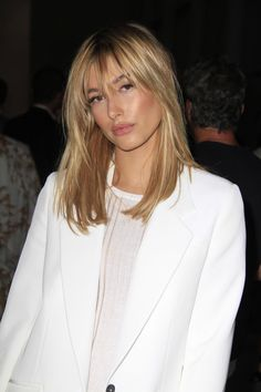 Hailey Baldwin's Breezy Bangs and Long Layered Shag  - MarieClaire.com