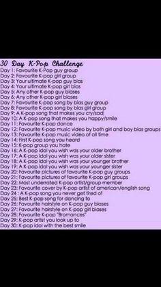 30 Day Kpop Challenge! 😊☺  { #Kpop #KpopChallenge } ©KpopAmino