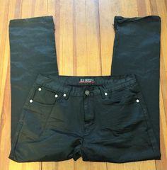 Men's Black Sheen Old Skool Distressed Denim Jeans - 36x30 #OldSkool #ClassicStraightLeg