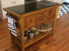 VIVETTE TJABERINGS: My favourite item in my kitchen is my country wooden butchers block with granite surface. Kitchen Cart, Granite, My Favorite Things, Competition, Challenge, Surface, Country, Classic, Home Decor